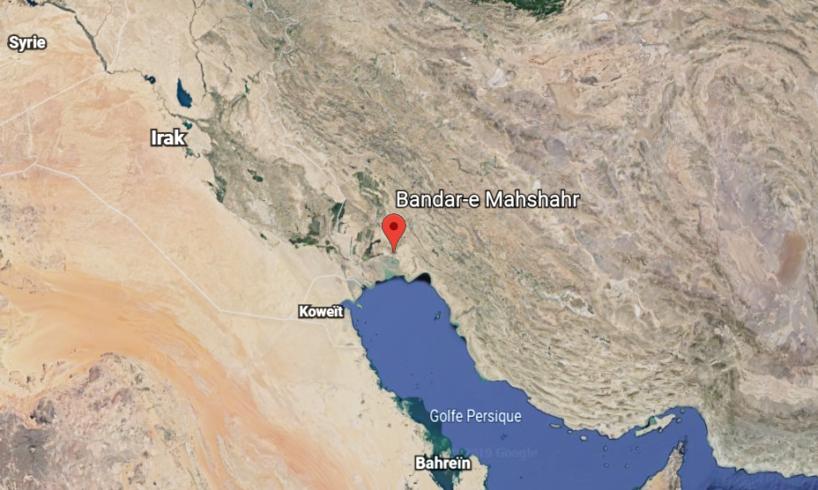 iran sky view google earth